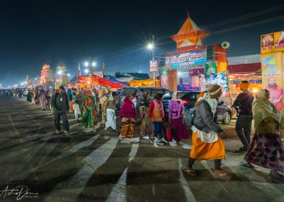 Kumbh Mela Busy at Night