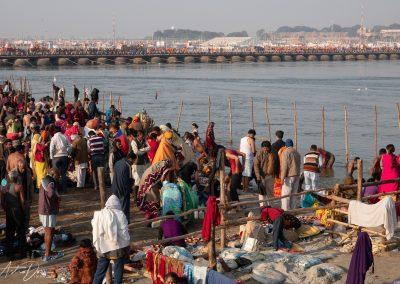 Kumbh Mela Ganges View of Procession