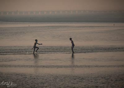 Kumbh Mela Boys Playing