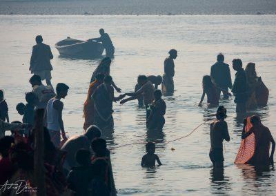 Kumbh Mela Ganges Bathers