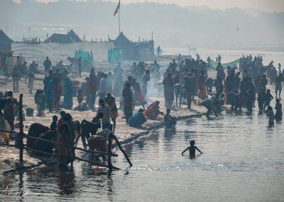 Kumbh Mela Ganges Bathers 5 and Tent City