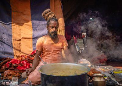 Kumbh Mela Sadhu Cooking