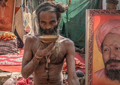 Kumbh Mela Sadhu Refreshment