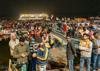 Varanasi Aarti Crowd