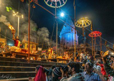 Varanasi Enjoying Aarti