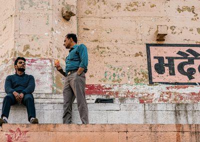 Varanasi Friends Chatting