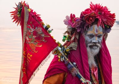 Varanasi Sadhu Vibrant Colors