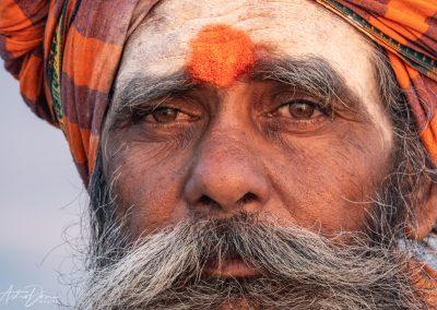 Varanasi Sadhu Holy Man Portrait