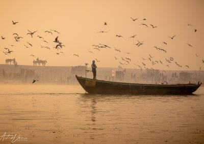 Varanasi River Activities Begin