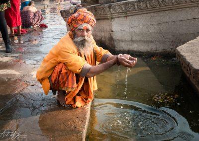Varanasi Sadhu Cleansing