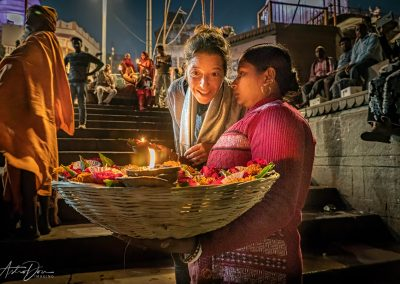 Varanasi Sellling Floating Candles at Aarti