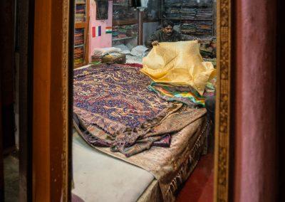 Varanasi Fabric Store Reflection