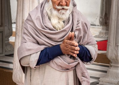 Prayerful Sikh Man