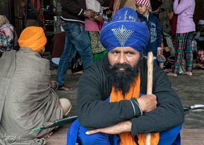 Sikh Man Sitting