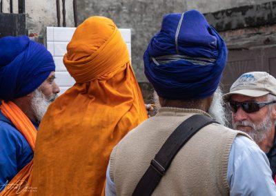 Sikh Elders Welcoming Visitor