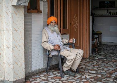 Sikh Man Relaxing
