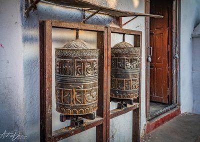 Prayer Wheels and Door