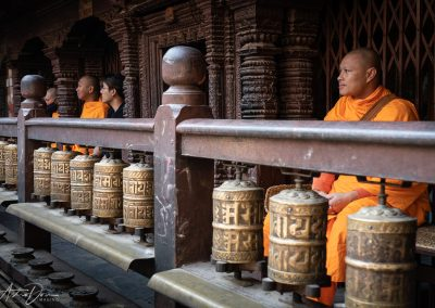 Prayer Wheels and Monks