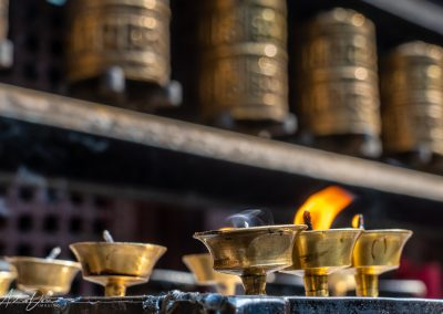 Flame and Prayer Wheels