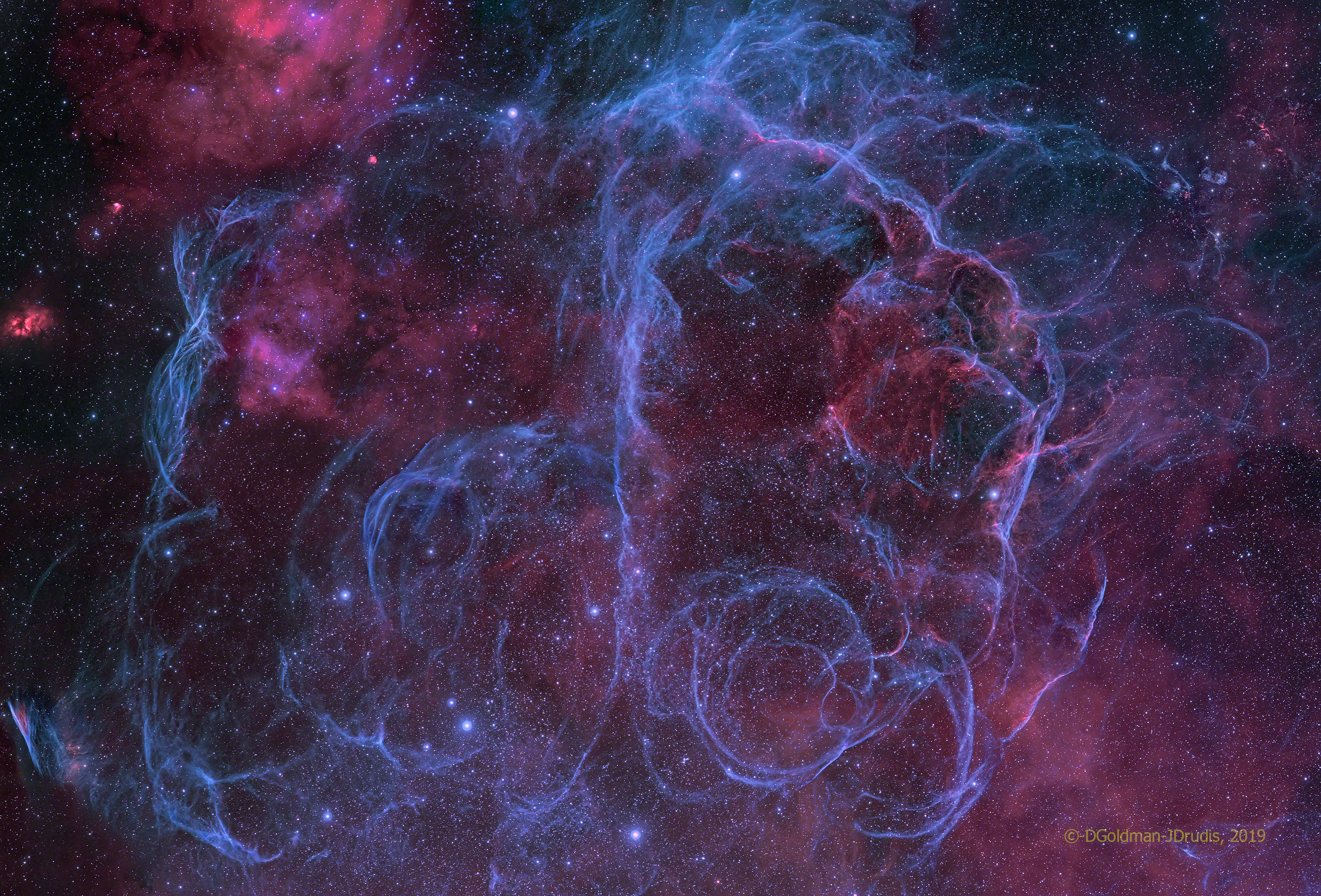 Vela Supernova Remnant Wide View