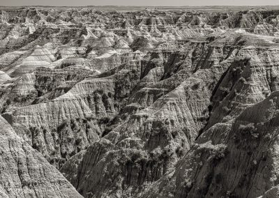 Badlands Monochrome Perspective