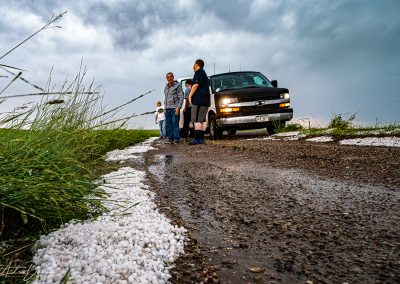 Hail After Storm Pumpkin Buttes WY