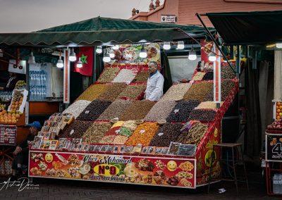 Fruit Vendor Jama El F'na Market Marakesh