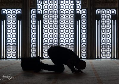 Prayer Inside Hassan II Mosque Casablanca