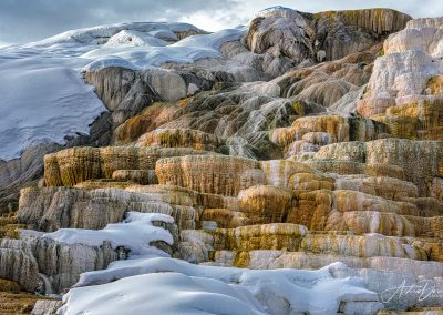 Mammoth Hot Springs in Winter 2
