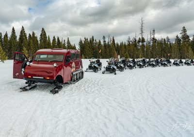 Snowcoach and Snowmobiles Yellowstone