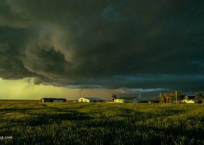Farm Scene at Sunset