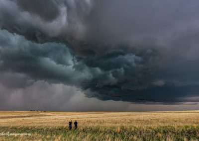 Two Photographers, a Field and a Storm
