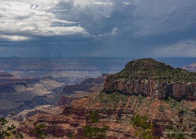 Distant Lightning from North Rim