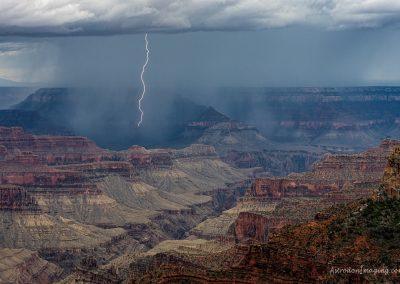 Nearby Lightning from North Rim