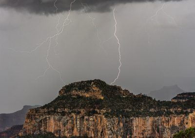 Multiple Strikes at Nearby Oza Butte North Rim