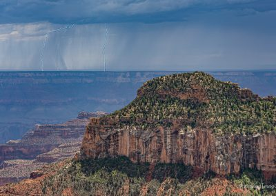Distant Lightning from North Rim 2